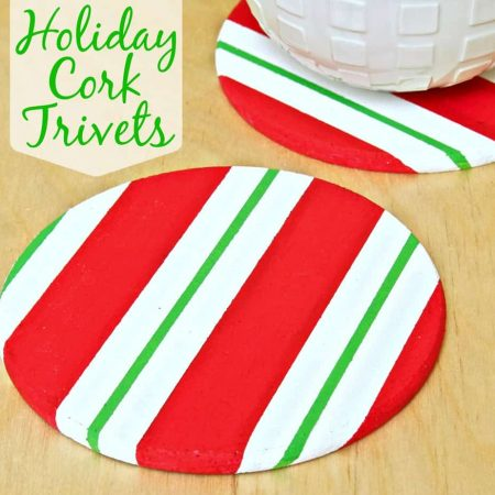 Make a Holiday Cork Trivet using FrogTape