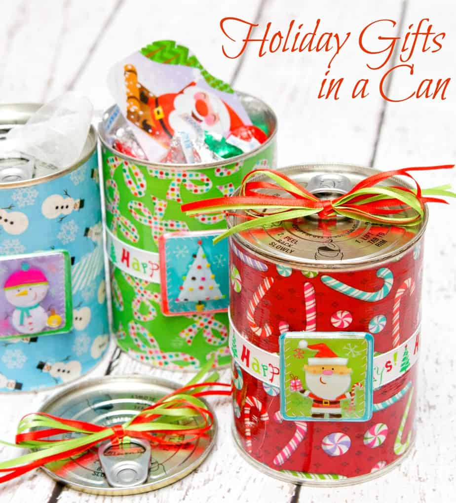 Holiday Gifts in a Can with Duck Tape