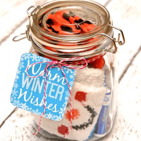 Winter Survival Kit Gift in a Jar
