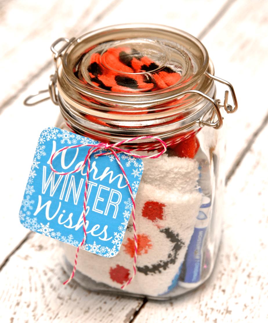 winter survival kit gift in a jar. Black Bedroom Furniture Sets. Home Design Ideas