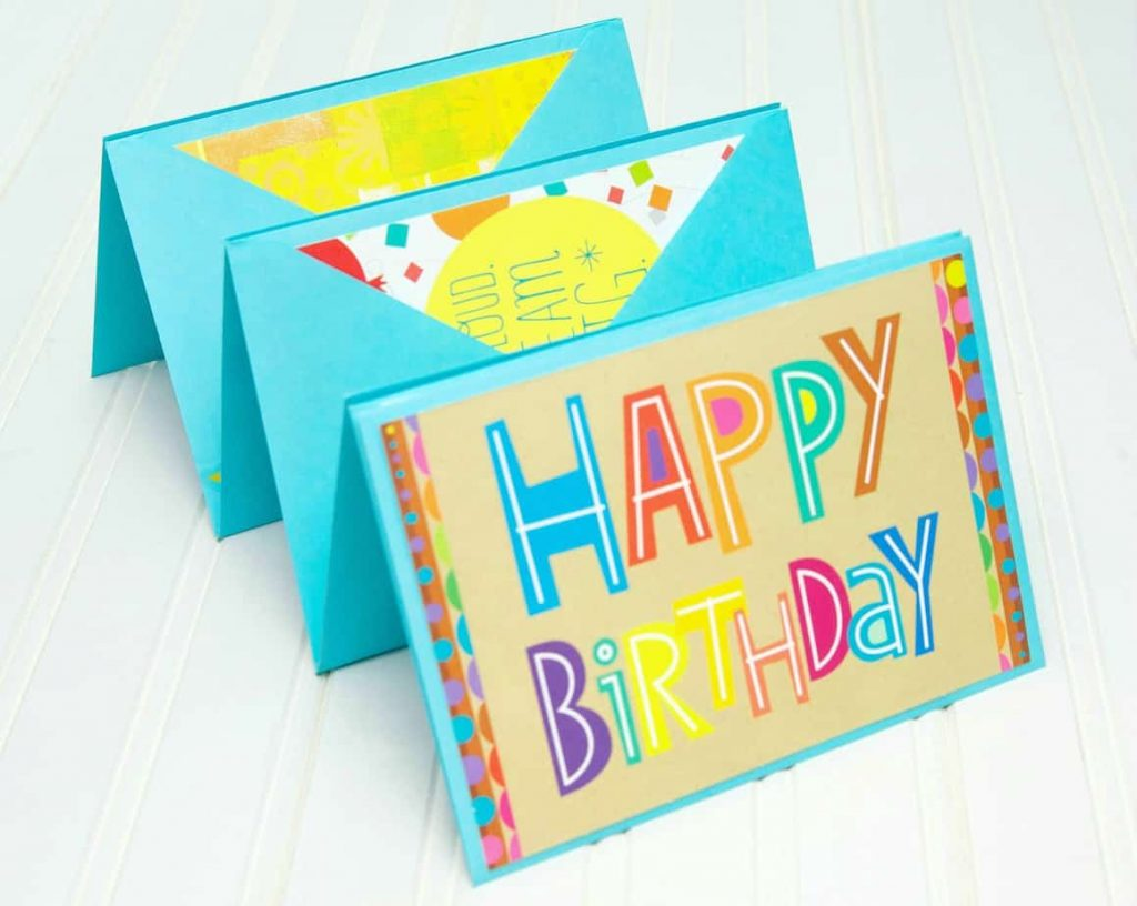 Accordion Birthday Card