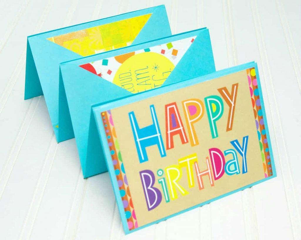 birthday card accordion  gift idea, Birthday card