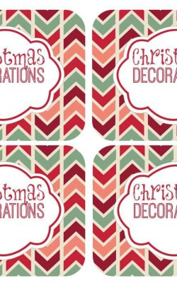 Christmas Decorations_Free_Labels