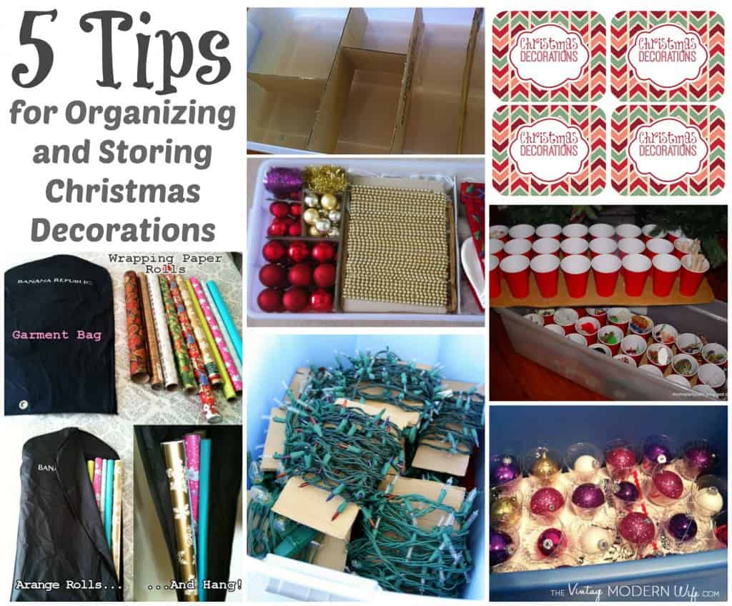 Organizing and Storing Christmas Decoration