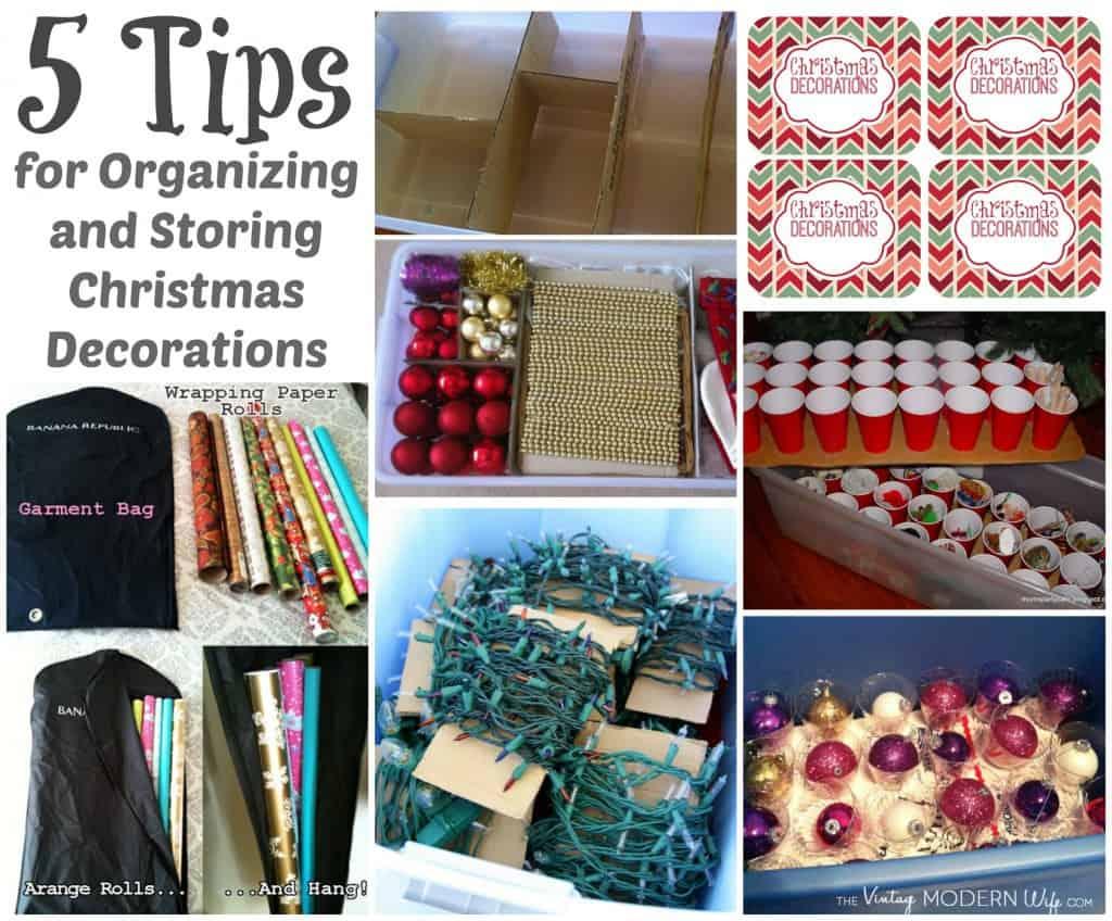 Organizing and Storing Christmas Decoration