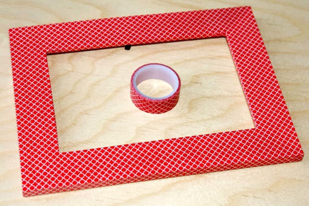 washi tape chalkboard-step 1