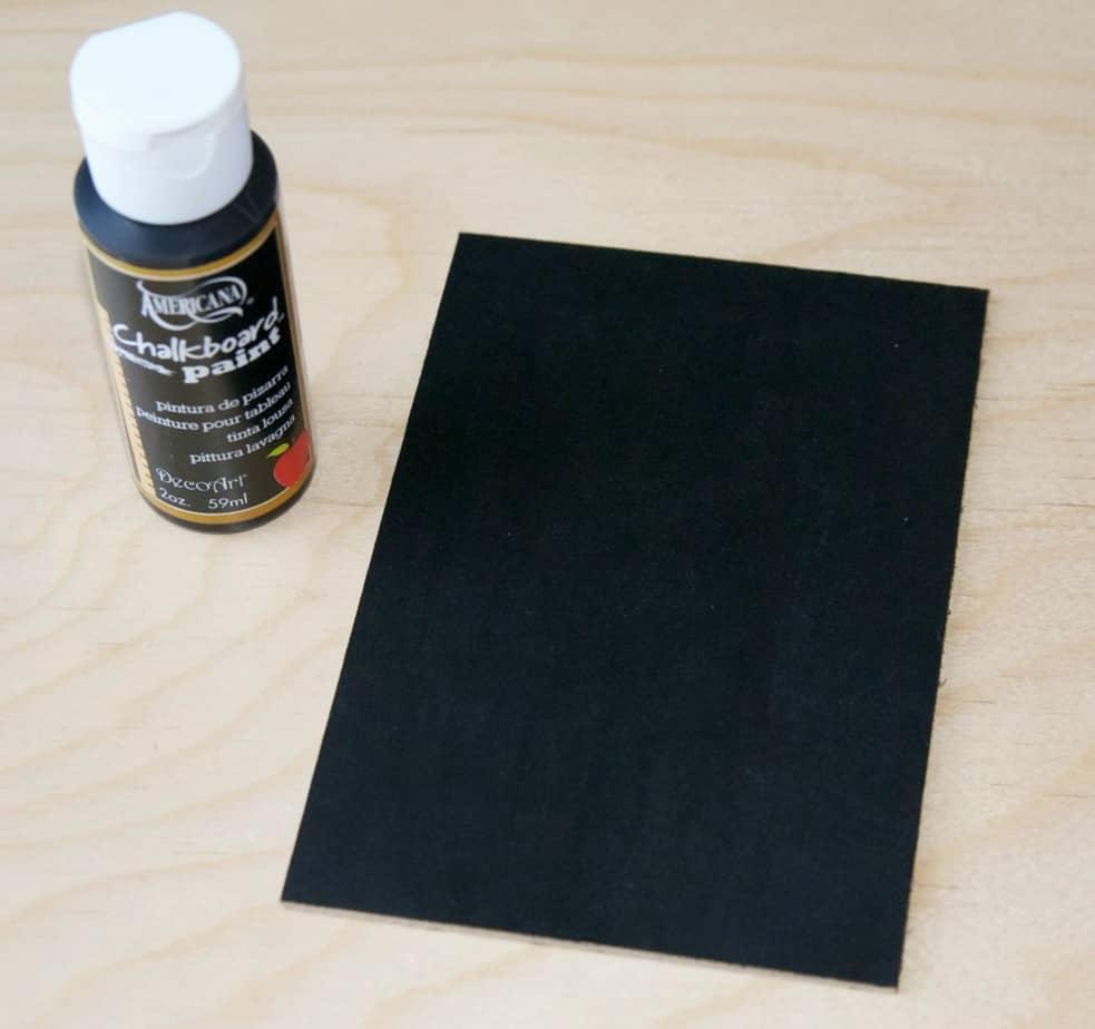 washi tape chalkboard - step 2