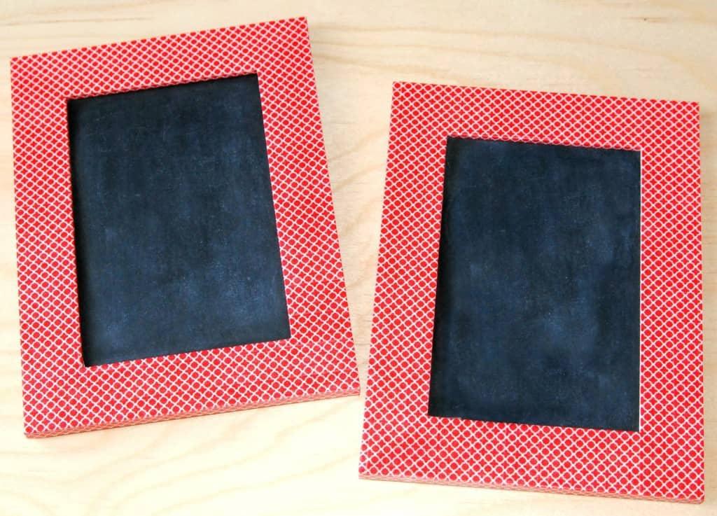 washi tape chalkboard - step 3