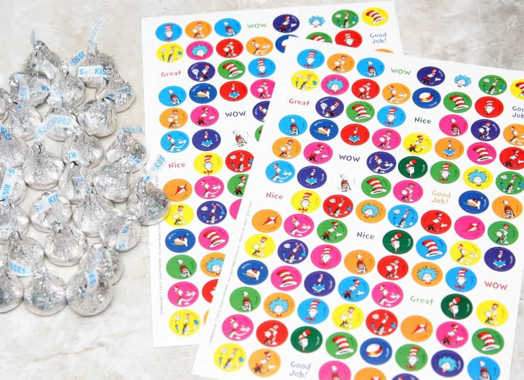 Dr. Seuss Memroy Game with Hershey Kisses