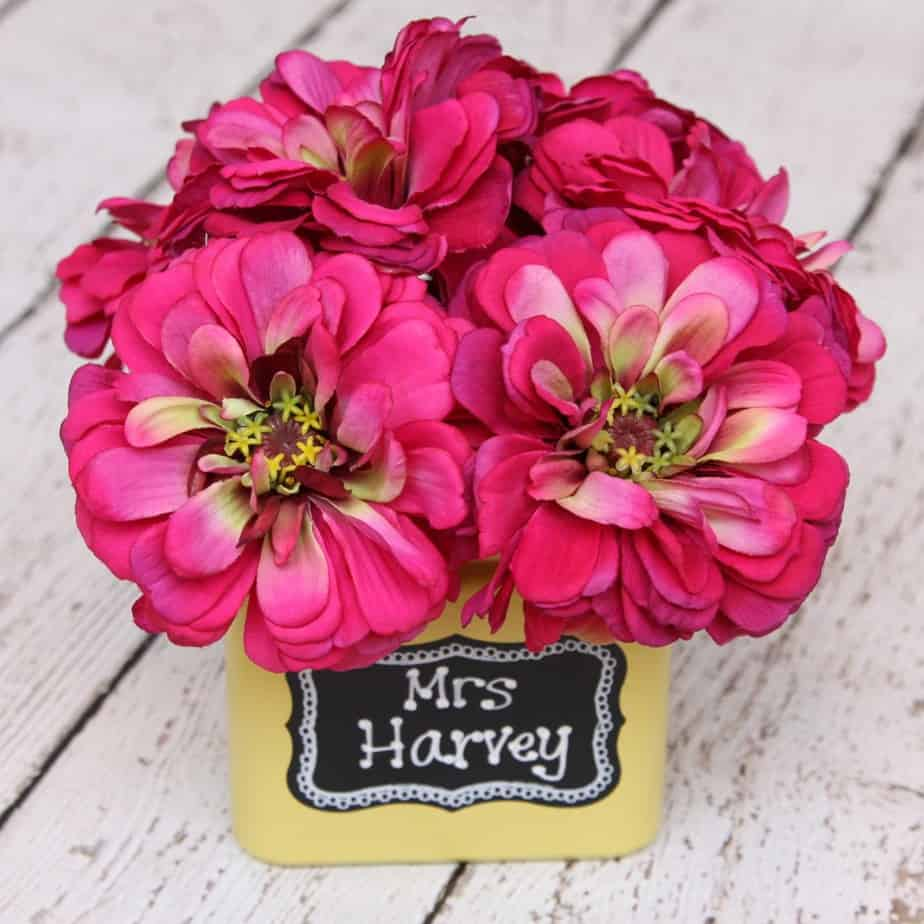 flower pen with personalized flower pot