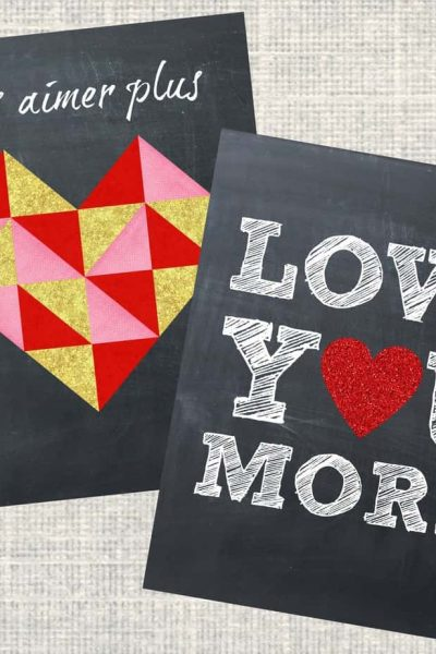 Love You More Printables