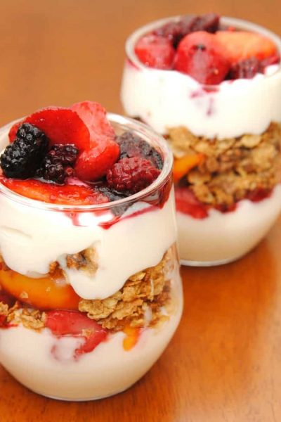 fruit yogurt parfaits