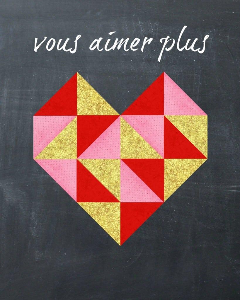 Geometric Glitter Heart