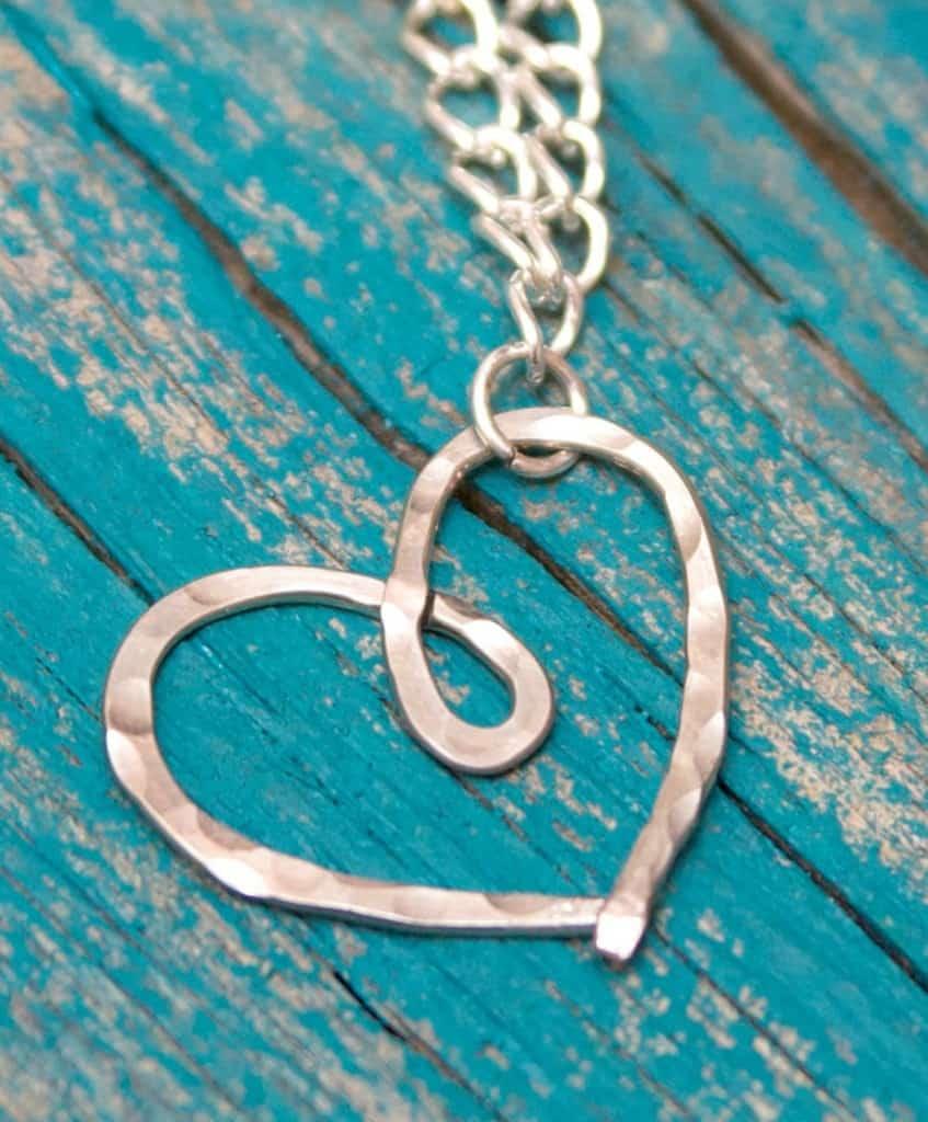 Hammerd Heart Necklace