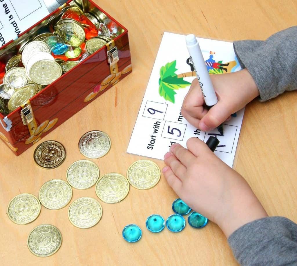 Pirate's Treasure Chest Math Fun