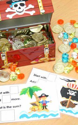 Pirate's Treasure Chest Math Game