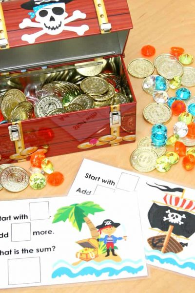 Pirate's Treasure Chest Math Game
