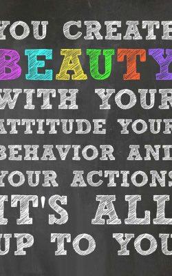 You Create Beauty - Free Printable