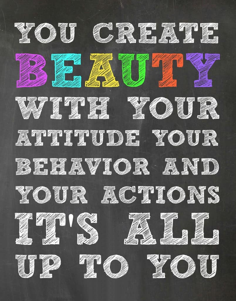 You Create Beauty - Free Printable