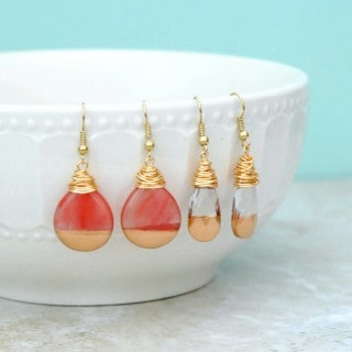 Gold Dipped Teardrop Earrings {with a $300 Paypal Giveaway}