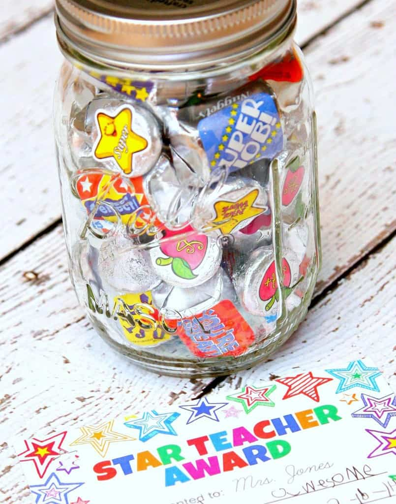 Teacher Appreciation Gift in a Jar