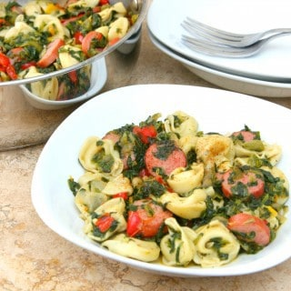 Turkey Sausage and Spinach with Tortellini