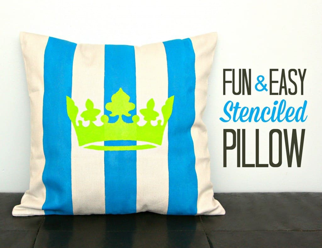 fun and easy stenciled pillow