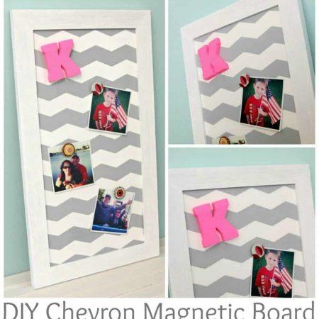 DIY Chevron Magnetic Board
