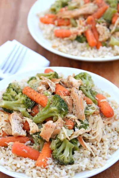 Slow Cooker Chicken Veggie Recipe - Quick and Easy Meal
