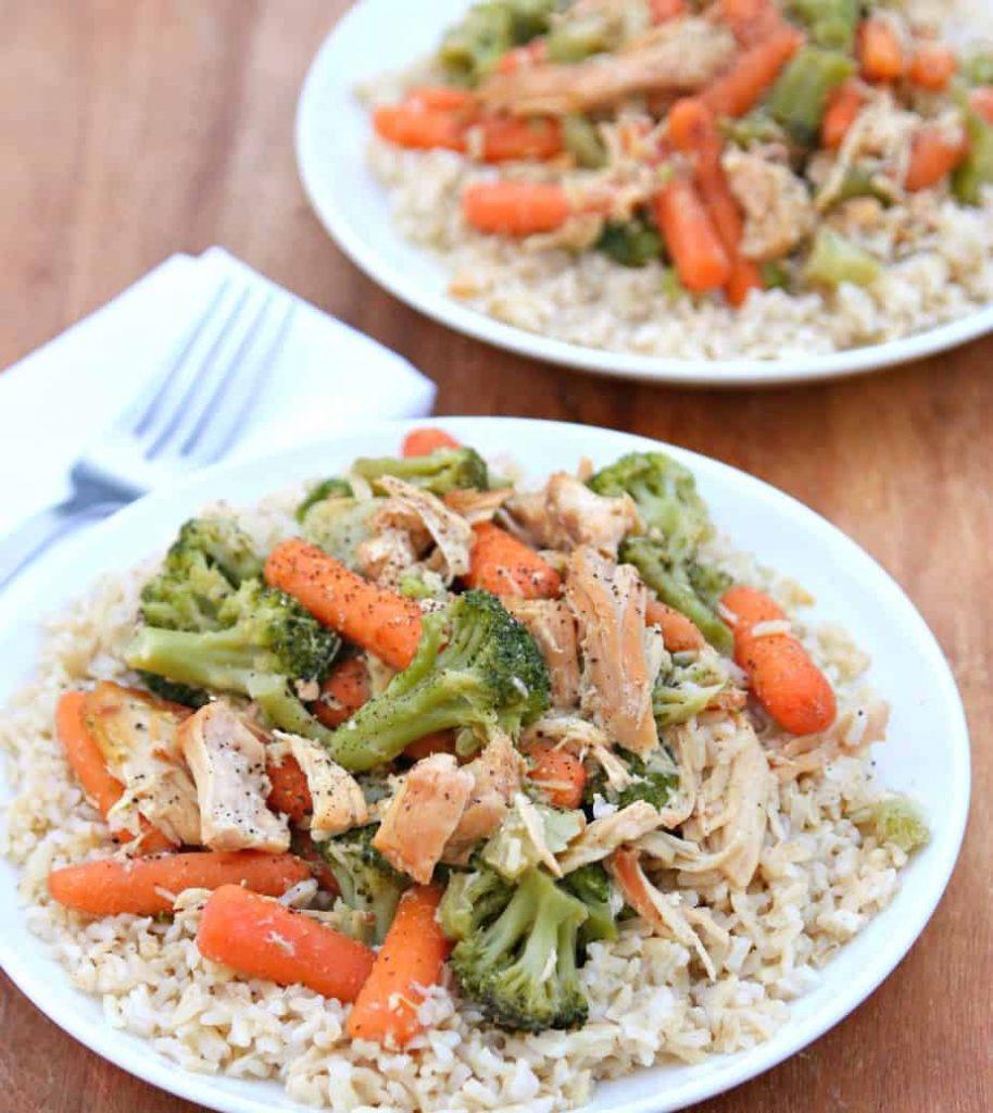 Slow Cooker Chicken Veggie Slow Cooker Recipe