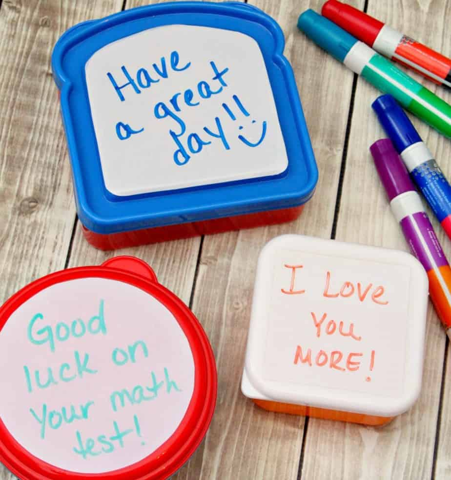 dry erase lunchbox notes