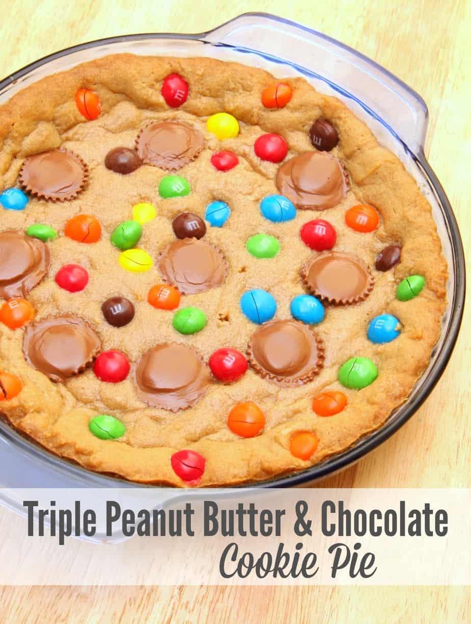 triple chocolate peanut butter cookies recipe
