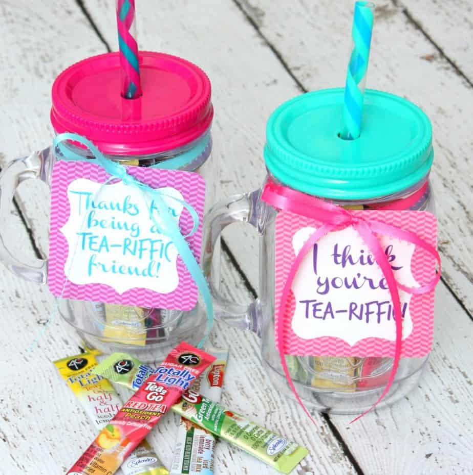 craft ideas for gifts for friends tea riffic gift for a friend free printable 7570