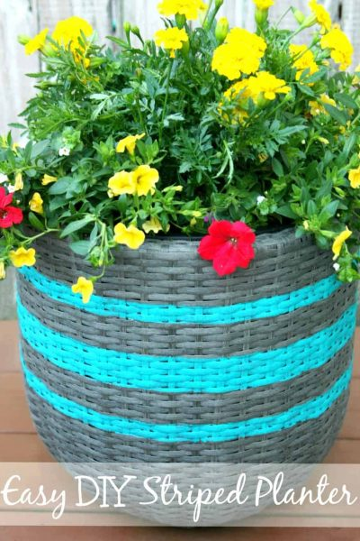 DIY Striped Planter using FrogtTape®