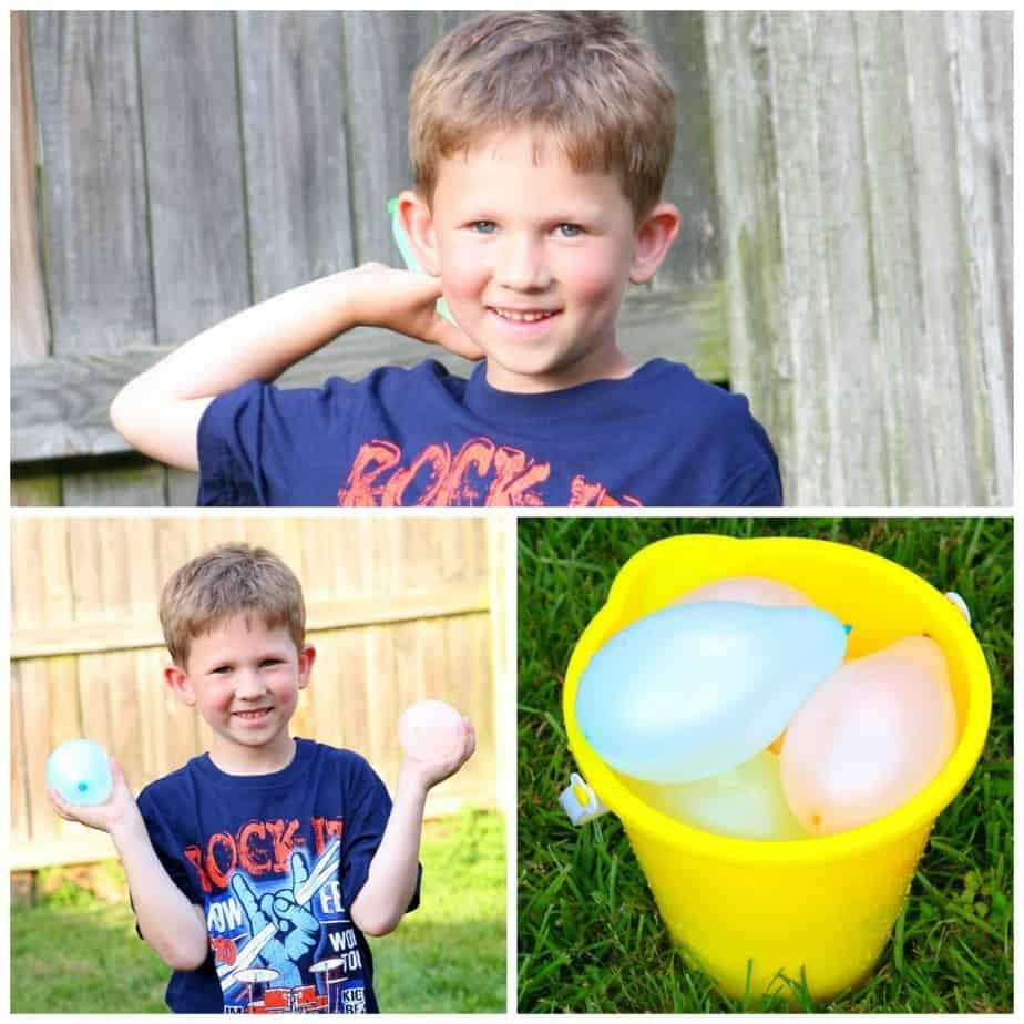 summer outdoor activities water balloon fights