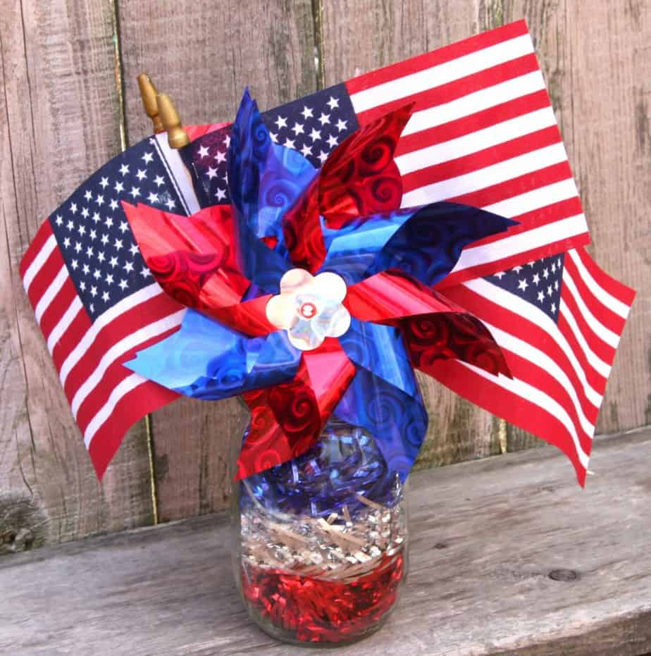 Easy 4th of july centerpiece for 4 of july decorations