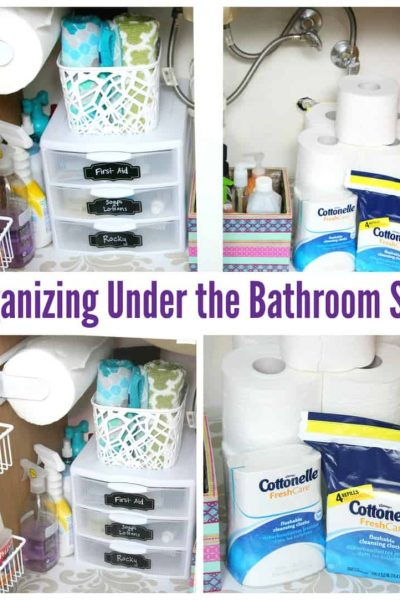 organizing under the bathroom sink