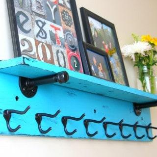 DIY Entryway Shelf with Coat Rack