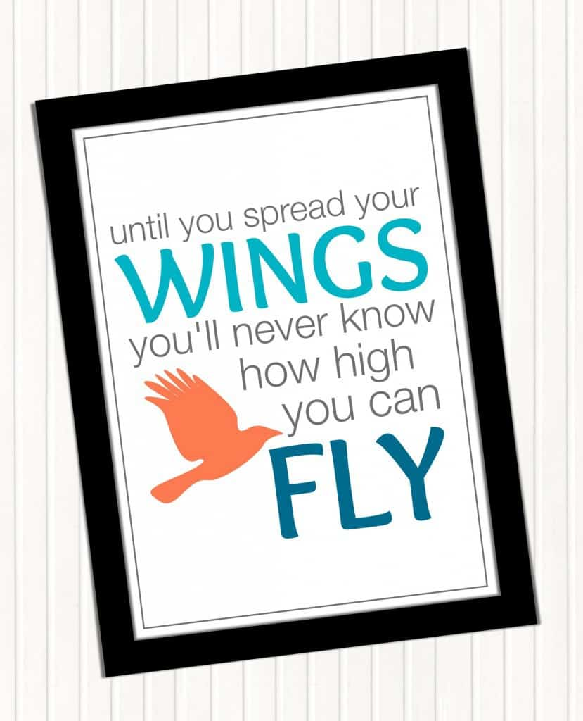 until you spread your wings -fly printable