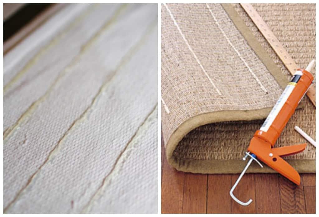 DIY non slip rug