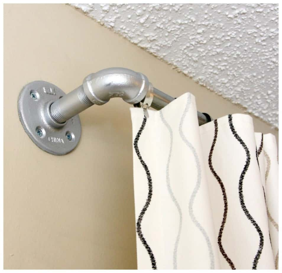 Conduit and Pipe Curtain Rod