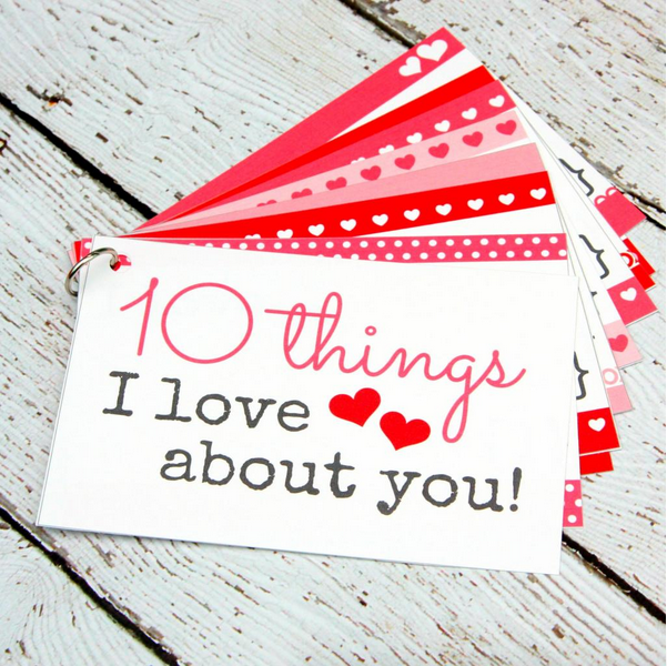 10 Things I love About You Free Printable