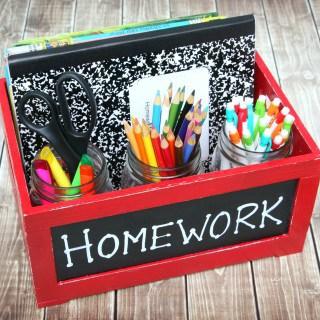Homework Caddy – Keeping Homework Time Organized