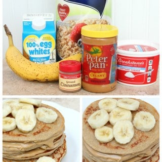Peanut Butter and Banana Protein Pancakes