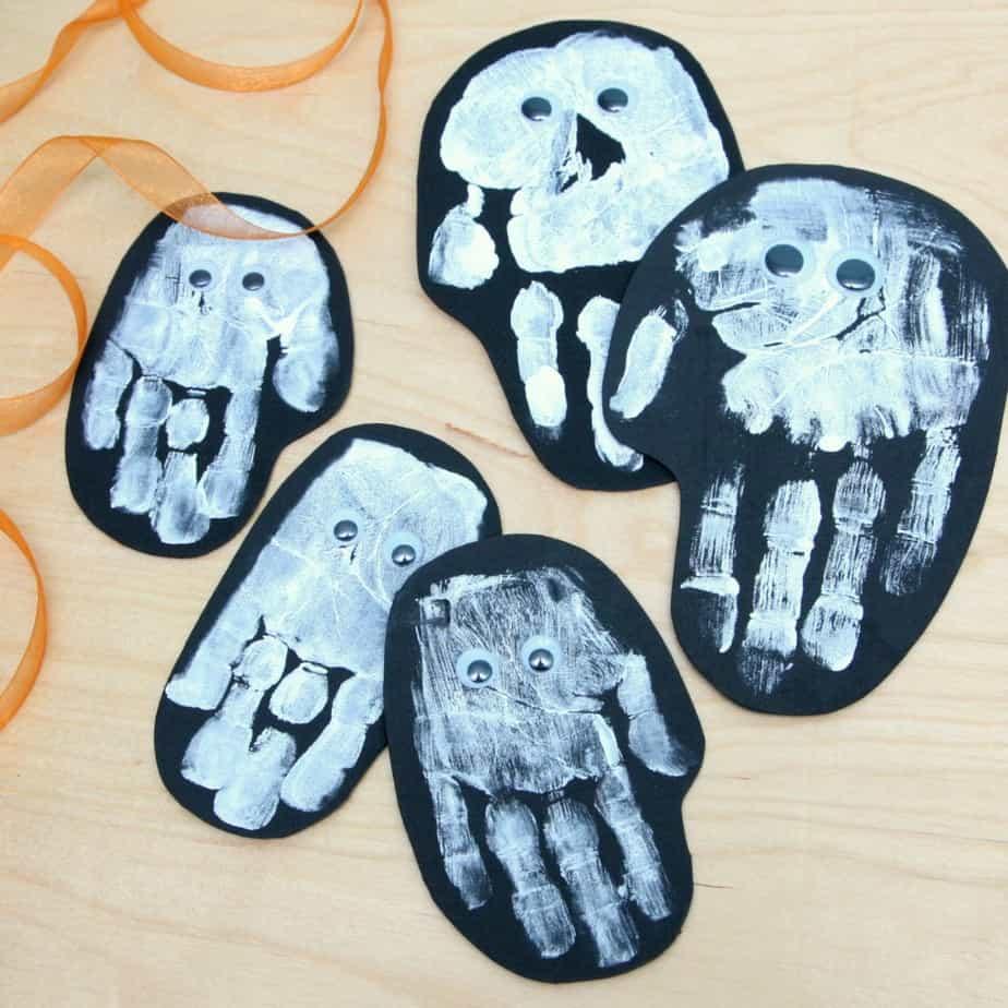 Family Ghost Handprint Garland