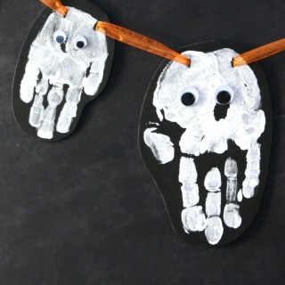 Family Ghost Handprint Garland