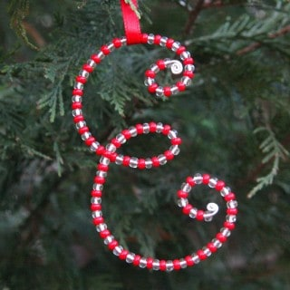 Beaded Letter Ornaments