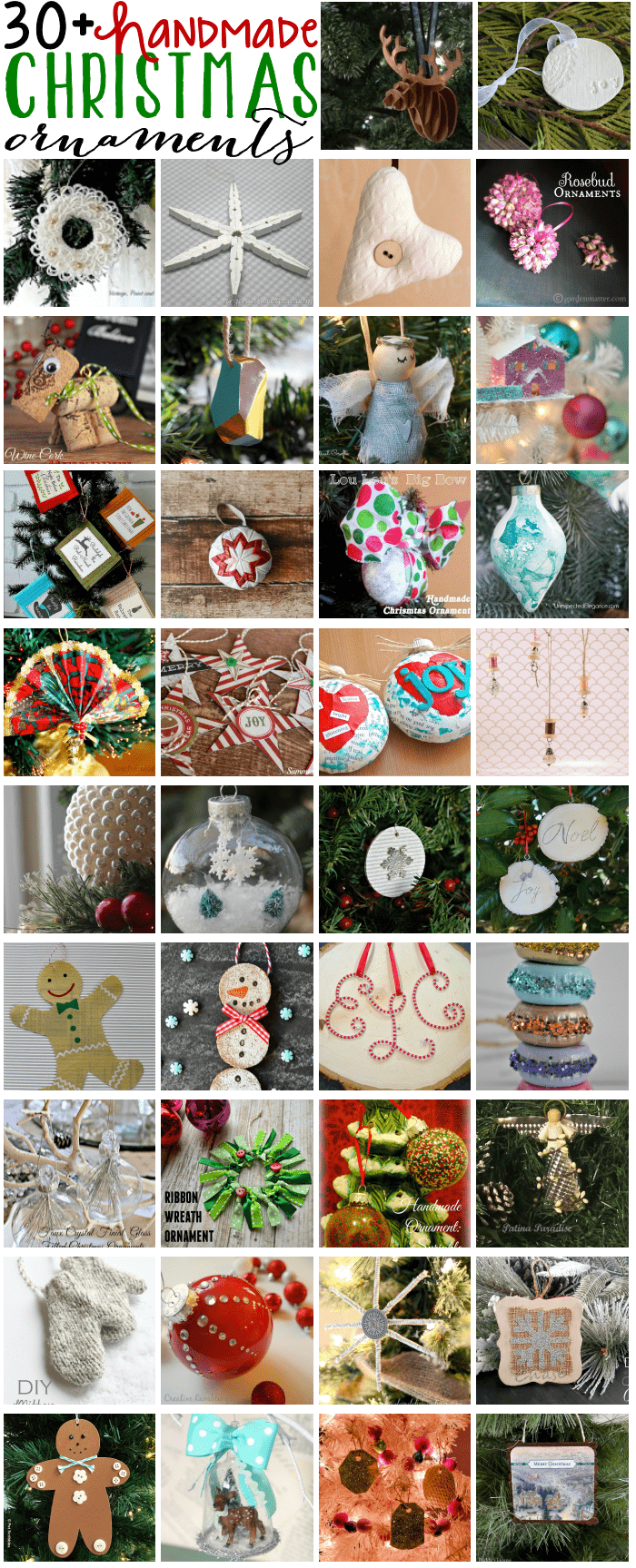 Handmade Christmas Ornaments Blog Hop