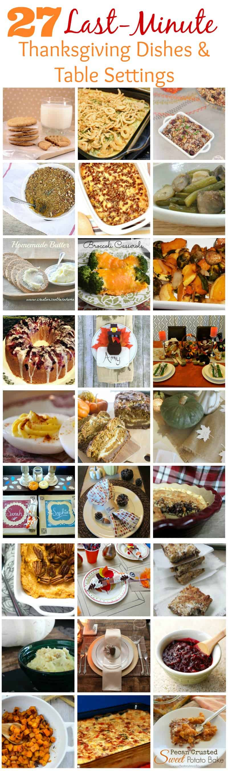 27 Thanksgiving Dishes and Table Settings