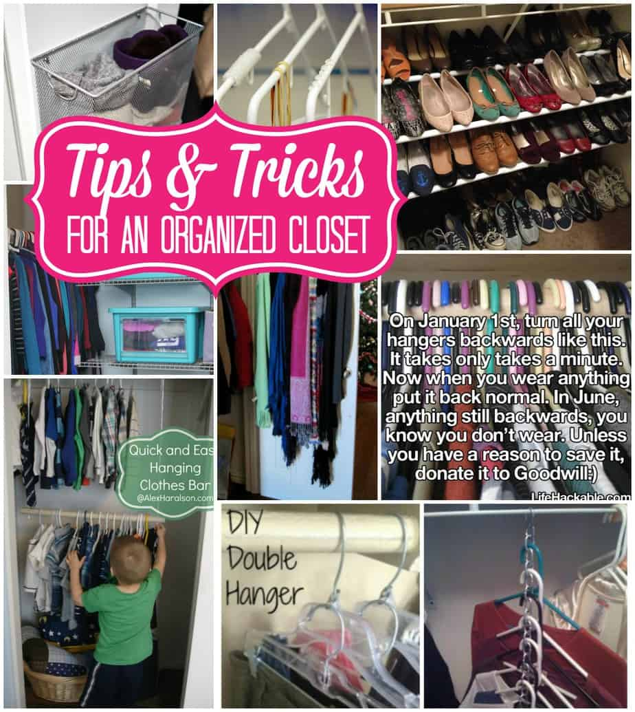 tips and tricks for an organized closet. Black Bedroom Furniture Sets. Home Design Ideas